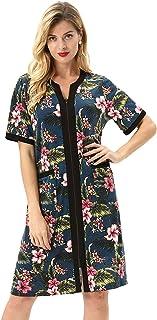 Zexxxy Sleepwear Women Crew Neck Short Sleeve Pajama Set with Satin Trim ZE0143