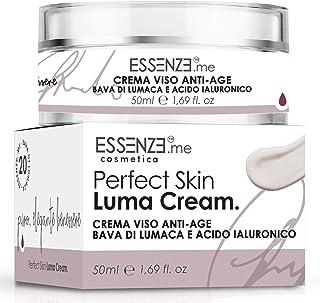 ESSENZE Bava di Lumaca Crema Viso Antirughe con Acido Ialuronico 50ml Collagene Vitamina E Azione Idratante e Nutriente Il...