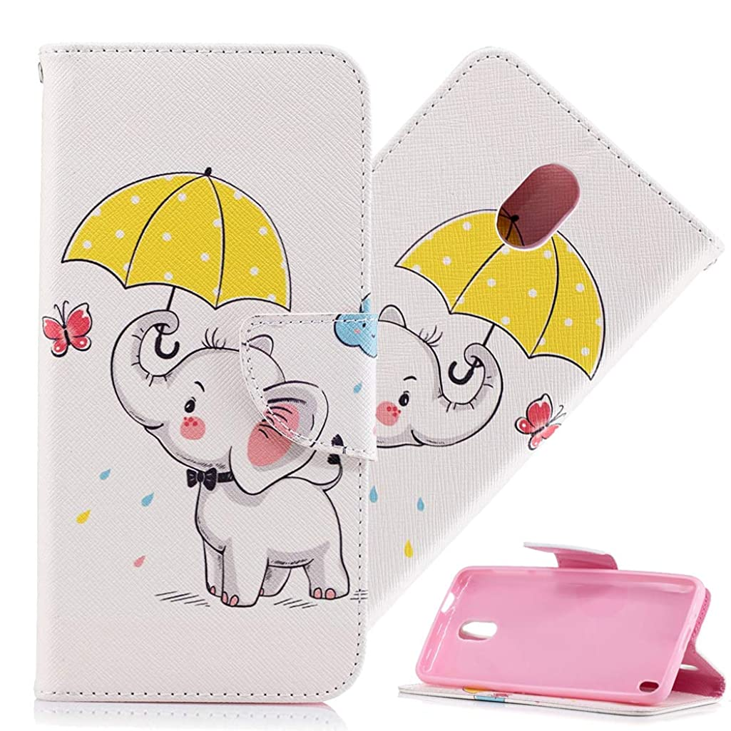HMTECHUS Nokia 2 Case Design Printing Flamingo Retro Panda Floral Wallet Folio Flip PU Leather with Stand Card Holder Slots Protective Cover for Nokia 2 2017 Umbrella Dumbo BF