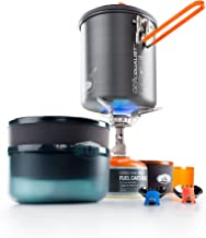 GSI Outdoors - Halulite Microdualist Complete, Camp Cook Set, Superior Backcountry Cookware Since 1985