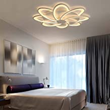 LED Ceiling Light, 8 Head 90W Ceiling Lamp Modern Acrylic Ceiling Lighting Fixture for Bedroom Living Room Office Study Ch...