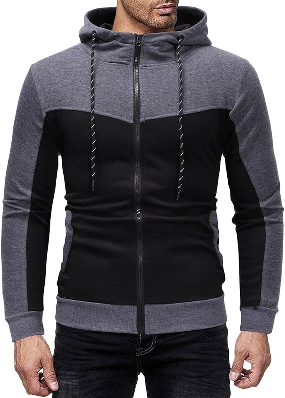 Aayomet Men's Pullover Hoodies Color Block Zipper Long Sleeve Hooded Sweatshirts Casual Workout Sport Blouses Tops Sweaters