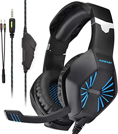 INSMART Cuffie da Gaming con Microfono e Bass Stereo, Gaming Headset PC Over-Ear Noise Cancelling e Controllo Volume, Cuffie per PS4/Xbox One X e S/Nintendo Switch - Trova i prezzi più bassi