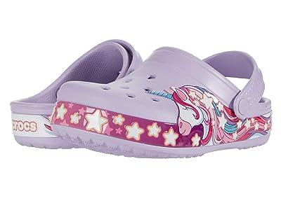 Crocs Kids Fun Lab Unicorn Band Clog (Toddler/Little Kid) (Lavender) Girl