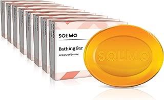 Amazon Brand - Solimo Glycerine Bathing Bar (Pack of 8), 8 X 125g