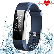 Kybeco Fitness Tracker, Elegant Waterproof Heart Rate Monitor Activity Tracker Wearable Wristband Wireless Step Counter Smart Bracelet Watch for Android and iOS Smartphones