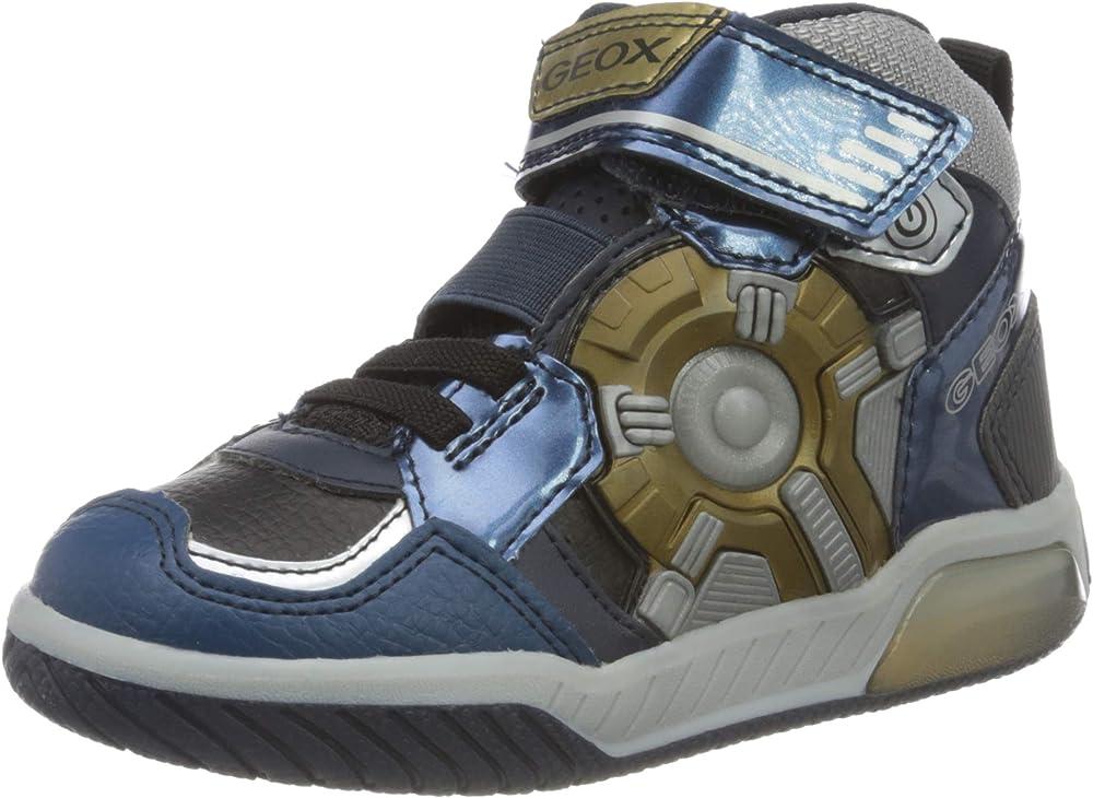 Geox j inek boy a, scarpe da ginnastica bambino con luci integrate nella suola J049CA0CE11