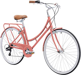 FIRTH SPORTS Nadine SE Women's Aluminum Step-Thru 7 Speed Hybrid City Bike