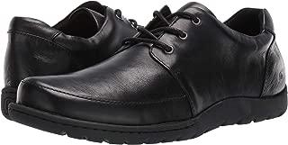 Nigel 3-Eye Black Leather Shoes (H65603)