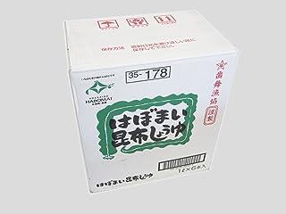 はぼまい 昆布しょうゆ 1L×6本入 【北海道歯舞産昆布使用】
