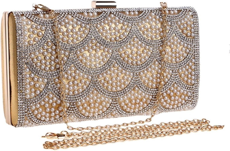 AI BAO Women Luxury Pearl Dinner Package Fashion Nightclub Princess Evening Bag Gorgeous Celebrity Clutch