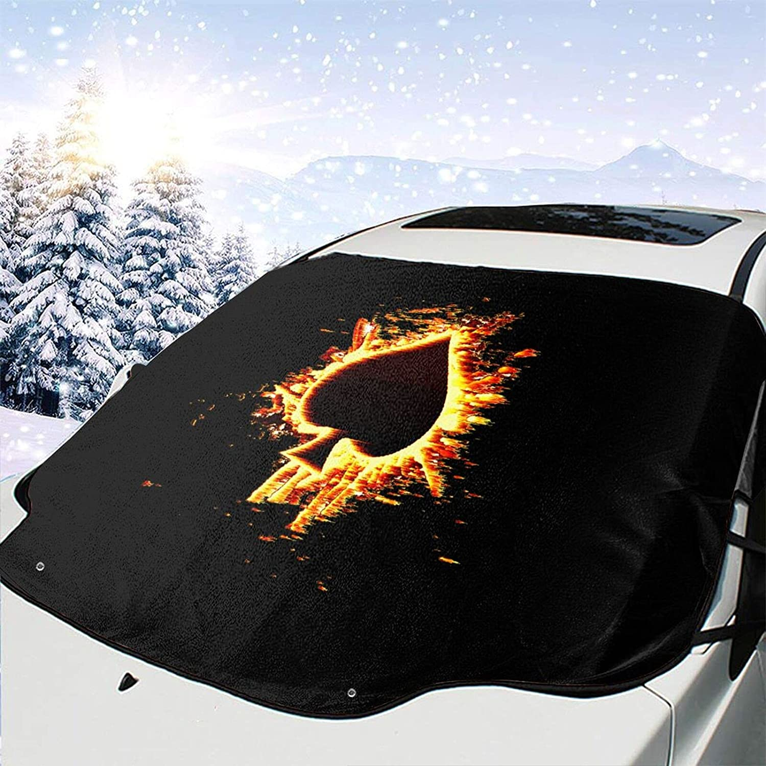 Max 50% OFF Choice Poker Ace of Spades Windshield Snow Cover Wiper Removal Ice Viso