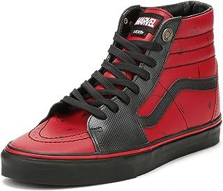 35e627ccbb Vans SK8-Hi Marvel Deadpool Red Black Leather Skateboarding Shoes