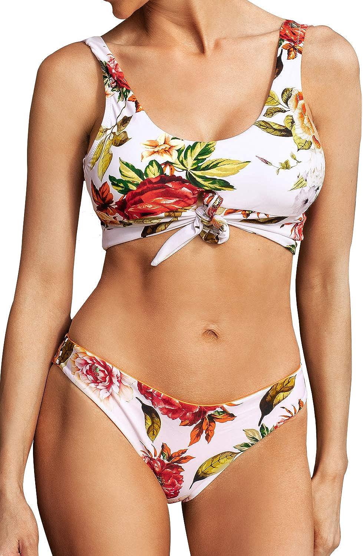 CUPSHE Women's Bikini Fresno Mall Swimsuit Low Rise free shipping Floral Print Set