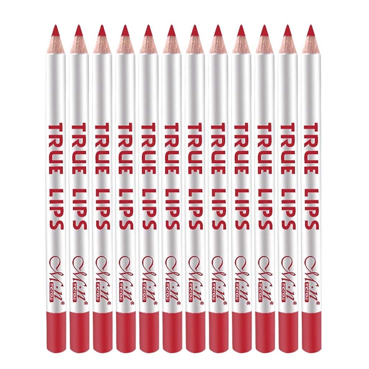 咽頭交換シュートHomyl 12本 リップライナー 口紅 唇メイクアップ 防水 レディース プレゼント 多色選べる  - 59