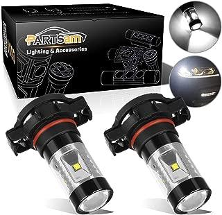 Partsam 2PCS 5202 5201 H16 PS24W-FF LED Fog Driving Light High Power Xenon White Fog Lights Bulbs Cree XB-D SMD