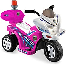 Kid Motorz Lil Patrol In Pink with White - with Siren Light & Storage Box ( 6V )