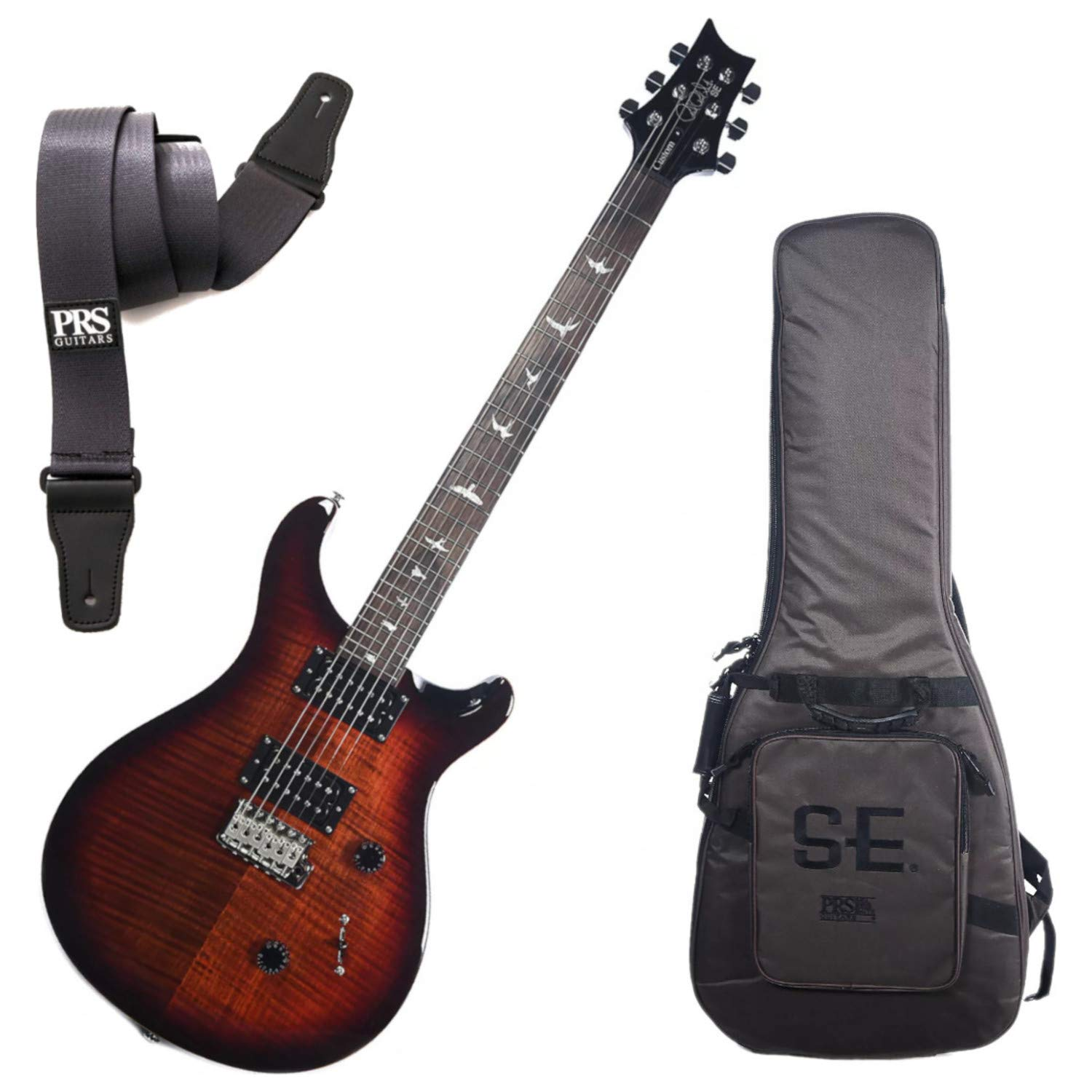 Cheap PRS Custom 24 Fire Red Burst Electric Guitar w/Soft Case and Strap Black Friday & Cyber Monday 2019