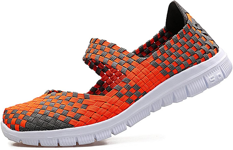 IINFINE New Women's shoes Ultra-Light Positive Hand-Woven shoes Lightweight Sports Casual Dance shoes