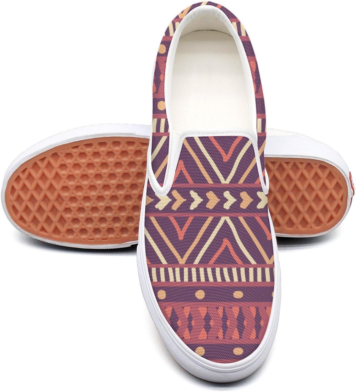 Dutte Lisa Women's Boho Aztec Geometrical Texture Casual shoes Laces Low Canvas Slip On Sneakers