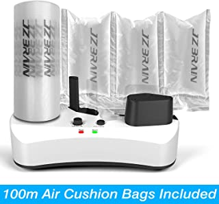 JZBRAIN Air Pillow Maker 110V Air Making Machine Air Cushion Machine Air Packing Machine Inflatable Packaging + 100m Free Test Film Roll
