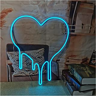Bedroom neon Sign, Transparent Acrylic Flex Led Girls Wall Home Room Bedroom Decoration Neon Wall Lights, USB Powered (Col...