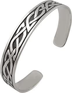 Sterling Silver Celtic Knot Adjustable Cuff Bracelet