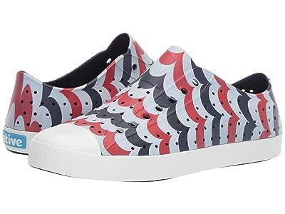 Native Shoes Jefferson (Regatta Blue/Shell White/Arches Print) Shoes