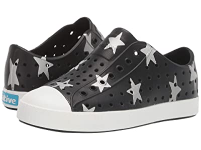 Native Kids Shoes Jefferson Otomi Print (Little Kid) (Jiffy Black/Shell White/Silver Big Star) Kid