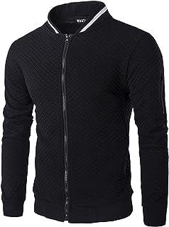 VANVENE Mens Full Zip Fleece Sweatshirt - Casual Long Sleeve Lightweight Active Jacket S-3XL