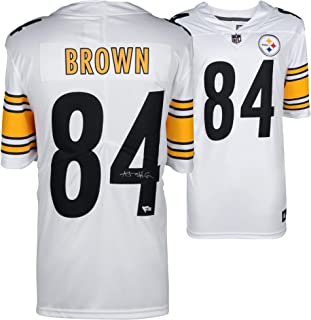 3ef0cc0a3db Antonio Brown Pittsburgh Steelers Autographed Nike White Limited Jersey - Fanatics  Authentic Certified