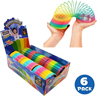 Liberty Imports Giant Magic Rainbow Springs   Classic Novelty Toy Bulk Party Favor   4-inch (Set of 6)