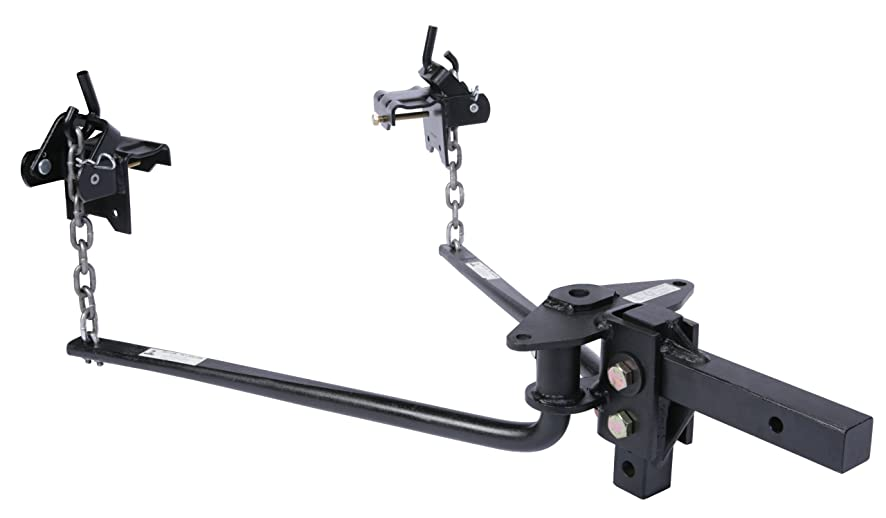 Husky 31425 Round Bar Weight Distribution Hitch with Shank Assembly - (1001 lb. to 1400 lb. Tongue Weight Capacity)