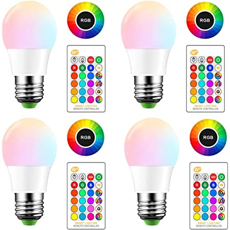 LED RGB Lamp E27 Remote Control Bulb Light Dimmable Colors Party Home Decoration