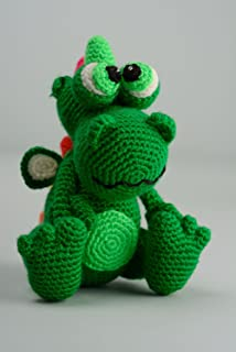 knitted dragon toy