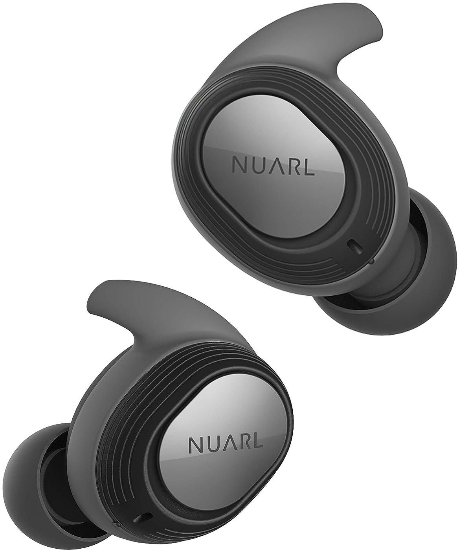 いっぱい手伝う忠誠NUARL 完全ワイヤレスイヤホン Bluetooth5 完全防水IPX7 【水洗い可能】 最大再生時間28時間 片側紛失サポート有 マイク?リモコン付 NT100 ブラック