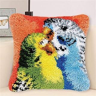 Crochet de loquet pour adultes DIY Jetez Oreiller Couvercle Perroquet Coloré Perroquet Modèle Aiguille Artisanat Crochet C...