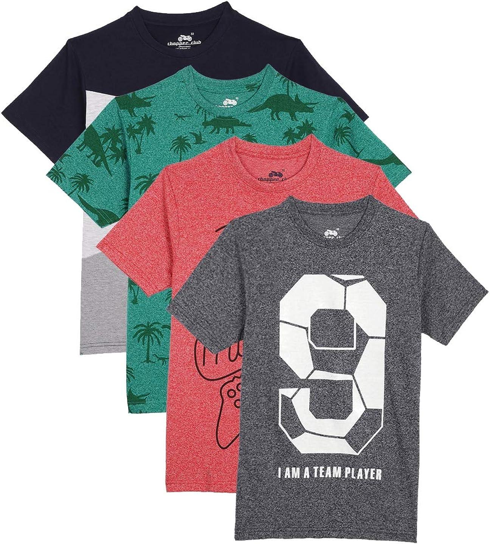 chopper club Boys T-Shirt Regular Fit Cotton Pack of 4