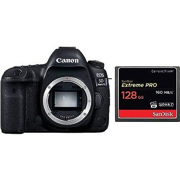 Canon EOS 5D Mark IV Full Frame Digital SLR Camera Body with 128GB CompactFlash Memory Card