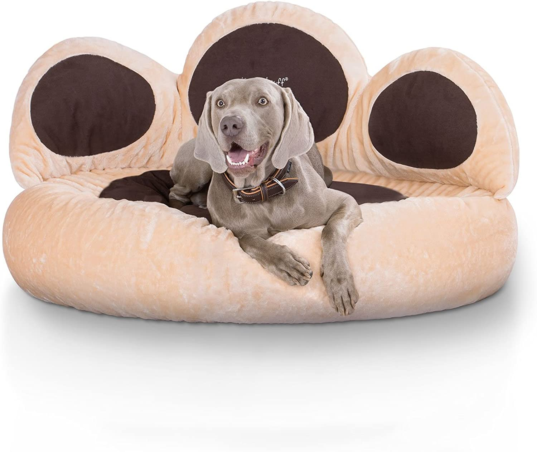 Kmitellwuff Luena Paw Bed Dog Bed, 2XLarge, 110 cm, Beige