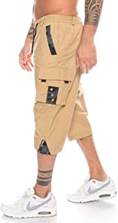 Crazy Age męskie szorty letnie spodnie cargo przewiewne lekkie bermudy krótkie spodnie
