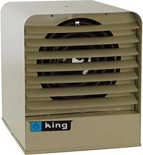 King Electric KB2407-1-T-B1 Electric Space Heater, 208V/240V, 30 Amp with Thermostat and Bracket, Gray