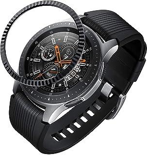 Sum-of-Best Compatible Galaxy Watch Bezel Ring 46mm / Galaxy Gear S3 Frontier & Classic Bezel Ring,Stainless Steel Bezel R...
