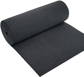 CISONE 8 Inch Wide Black Heavy Stretch High Elasticity Knit Elastic Band 2 Yards