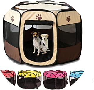 onebanana Portable Outdoor Kennels Fences Pet Tent Houses for Small Large Dogs Foldable Playpen Indoor Puppy Cage Dog Crate Delivery Room