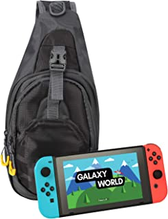 HDE Switch Backpack Travel Bag for Nintendo Switch and Switch Lite Protective Crossbody Shoulder Sling Bag for Console Joy-Cons and Accessories
