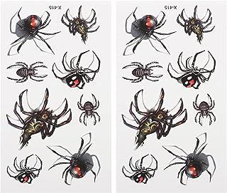 Beaupretty 25 Vellen Halloween Tijdelijke Tattoo Stickers Festival Party Spider Body Sticker