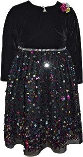 Blueberi Boulevard Sequin Velvet Dress & Shrug Set