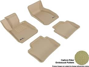 3D MAXpider Complete Set Custom Fit All-Weather Floor Mat for Select BMW 3 Series Sedan (F30) Models - Kagu Rubber (tan)