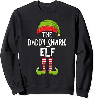 Pijama de la fiesta de Navidad de la familia de papá-tiburón Sudadera